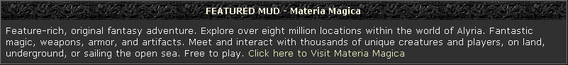 Featured MUD - Materia Magica